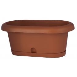 """Conjunto de caja de balcón """"Lotos"""" - color terracota - 60 cm -"""