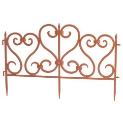 Декоративный садовый забор, высота 30 см - 2,45 м - терракота -