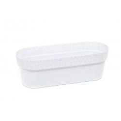 "Caja de balcón ""Bella"" con soporte - 50 cm - blanco -"