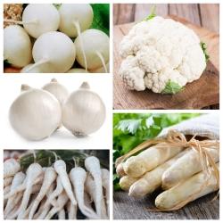 Valged köögiviljad - 5 liigi seemned -