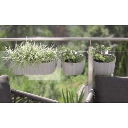 """Boardee Hook"" hanging plant box - 38.3 cm - stone-grey"