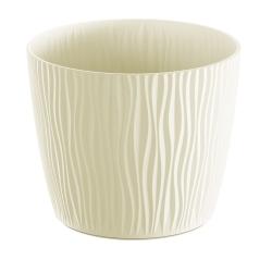 """""""Sandy"""" okrúhly kvetináč - 11 cm - krémovo-biela -"""