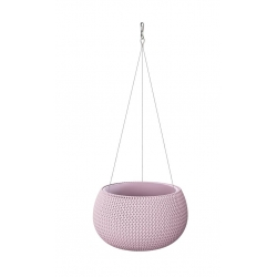 """Splofy Bowl"" round hanging plant pot - 37 cm - light blueberry-purple"