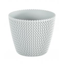 """Splofy"" round plant pot - 26 cm - white"