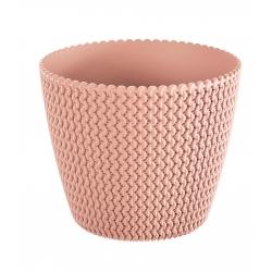 """Splofy"" round plant pot - 19 cm - peach"