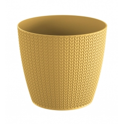 Круглый горшок с пшеницей - 13 см - индийский желтый -
