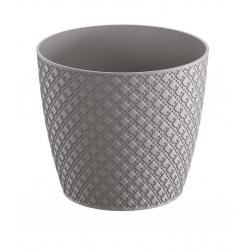 """""""Orient"""" round flower pot - 19 cm - stone-grey"""
