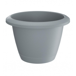 """Respana Basic"" round flower pot with a saucer - 39 cm - stone-grey"
