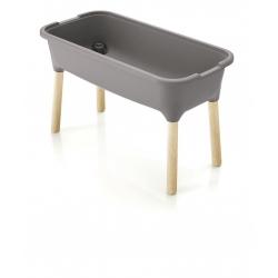 Horta com pés de madeira - mini estufa interna Respana Planter - 77 cm - cinza pedra -