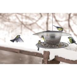 Mastmontierter Vogeltisch / Futtertablett Birdyfeed Round - anthrazitgrau -