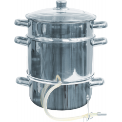 Stainless steel juice steamer - enables preparation of vegetable and fruit juices - for all cooker types including induction - 12 litre