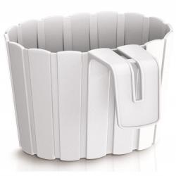 """Pot tanaman gantung """"Boardee Hook"""" - 19,4 cm - putih -"""