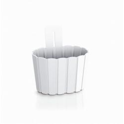 """""""Boardee Wall"""" nástenný kvetináč - 19,4 cm - biely -"""