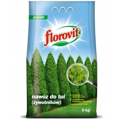 Thuja (arborvitae) mēslojums - ātra augšana, intensīva krāsošana - Florovit® - 3 kg -