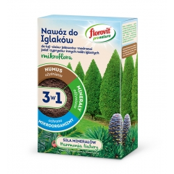 Ihličnaté hnojivo 3 v 1 - hnojí, vyživuje a chráni - Pro Natura - Florovit® - 1 kg -