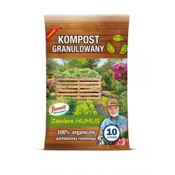 Granulovaný kompost z rastlín pre organické kultúry - Florovit® - 10 l -