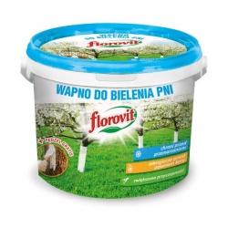 Puu- ja põõsatüvede lubi - harjaga - Florovit® - 1 kg -