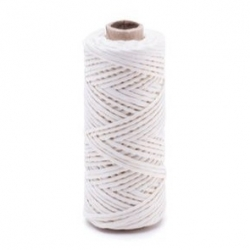 White linen waxed thread - 20 g / 30 m