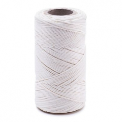 White linen waxed thread - 100 g / 120 m