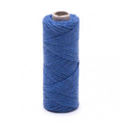 Blue linen waxed thread - 20 g / 30 m