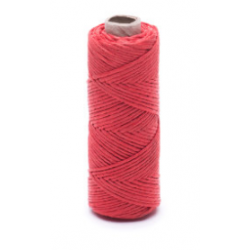 Red linen waxed thread - 20 g / 30 m