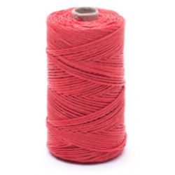 Red linen waxed thread - 50 g / 60 m