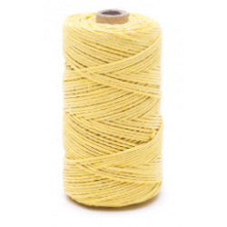 Yellow linen waxed thread - 50 g / 60 m