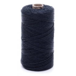 Black linen waxed thread - 50 g / 60 m