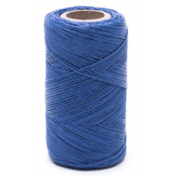 Blue linen waxed thread - 100 g / 120 m