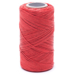 Red linen waxed thread - 100 g / 120 m
