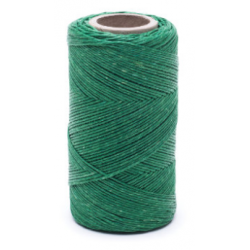 Green linen waxed thread - 100 g / 120 m