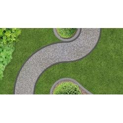 UNIBORD kerti szegély rögzítő tüskékkel - 4 m - CELLFAST -