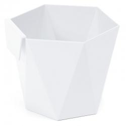 """""""Хеца"""" модуларно кућиште за посуду за биље - 10,5 цм - бело -"""