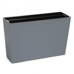 """Ziedu kaste """"Werbena"""" / stādītājs - 19 x 56 cm - pelēka -"""