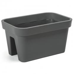 """Caja montada en barandilla """"Lobelia"""" - 45 cm - gris antracita -"""