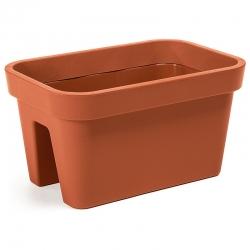 """Caja montada en barandilla """"Lobelia"""" - 45 cm - rojo ladrillo -"""