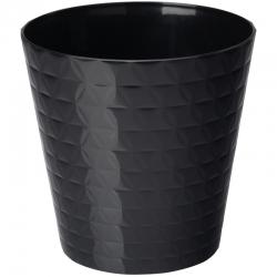 """""""Diament petit"""" round pot casing - 13 cm - black"""