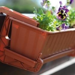 """Conjunto de balcón """"Agro"""" - terracota - 40 cm -"""