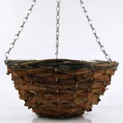 Wickerwork hanging flower basket - 30 cm - model FL5283