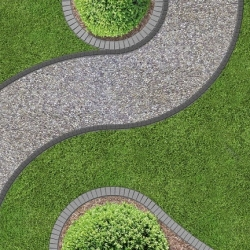 UNIBORD garden edging with anchoring spikes - 12 m - CELLFAST