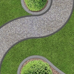 UNIBORD garden edging with anchoring spikes - 8 m - CELLFAST