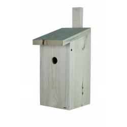 Кућа за птице за сисе, врапце на дрвећу и муваре - сирово дрво -