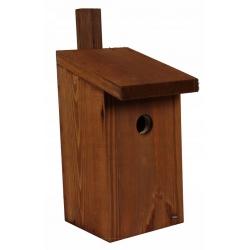 Кућа за птице за сисе, врапце на дрвећу и муваре - браон -