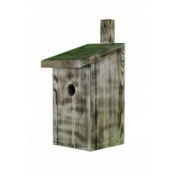 Кућа за птице за сисе, врапце на дрвећу и муваре - угљено дрво -
