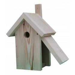 Vogelhaus für Meisen, Spatzen und Kleiber - Rohholz -