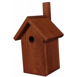 Vogelhäuschen für Titten, Spatzen und Kleiber - braun -