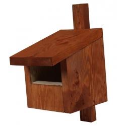 Vogelhaus für Redstarts, Amseln, Rotkehlchen und Turmfalken - braun -