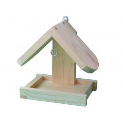 Зидна хранилица за птице - сирово дрво -