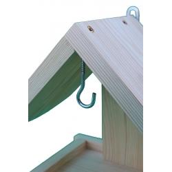 An der Wand befestigte Vogelzufuhr - rohes Holz -