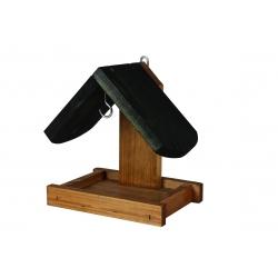 Зидна хранилица за птице - црно-браон -